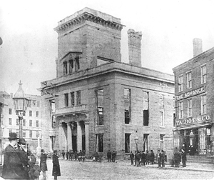 City Hall after fire of 1886