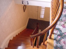 Front stairs top landing